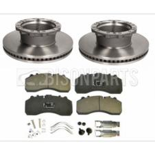 BRAKE DISC & BRAKE PAD AXLE SET FITS RH & LH (PAIR)