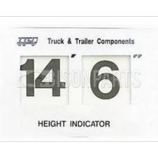 CARDBOARD IMPERIAL HEIGHT INDICATOR