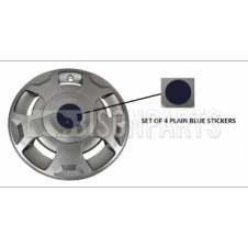 BLUE WHEEL TRIM STICKERS SET OF 4 (TO SUIT TRA379)