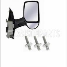 TWIN GLASS MIRROR HEAD & SELF SHEERING BOLTS DRIVER SIDE RH