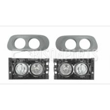 FRONT FOG & SPOT LAMPS WITH SURROUND BEZELS RH & LH (PAIR)