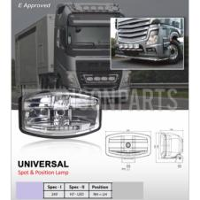 UNIVERSAL CLEAR SPOT & POSITION DRIVING LAMPS (PAIR)