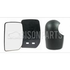 WING MIRROR GLASS & COVER PASSENGER SIDE LH
