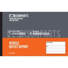 VEHICLE DEFECT REPORT PAD (25 PAGES)