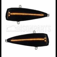 BLACK 28 LED DYNAMIC MIRROR INDICATORS RH & LH (PAIR)