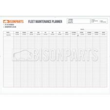 A1 VEHICLE FLEET MAINTENANCE & RECORD WALL CHART