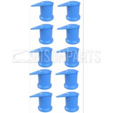 32MM LONG REACH DUSTITE WHEEL NUT COVERS BLUE (PKT 10)