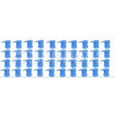 32MM LONG REACH DUSTITE WHEEL NUT COVERS BLUE (PKT 40)