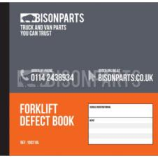 50 PAGE FORK LIFT TRUCK DAILY CHECK & DEFECT BOOK