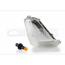 CLEAR MIRROR INDICATOR LENS & BULBS RH & LH (PAIR)
