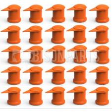 32MM LONG REACH DUSTITE WHEEL NUT COVERS ORANGE (PKT 50)