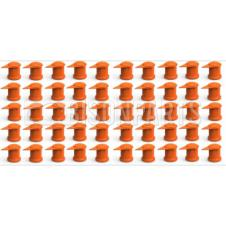 32MM LONG REACH DUSTITE WHEEL NUT COVERS ORANGE (PKT 100)