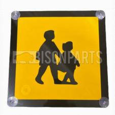 REAR RIGID PLASTIC SCHOOL BUS MARKER SIGN
