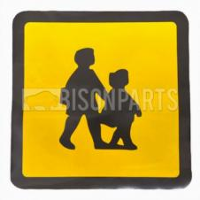 REAR SELF ADHESIVE SCHOOL BUS MARKER SIGN