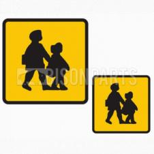 FRONT & REAR FOAMEX SCHOOL BUS MARKER SIGN SET