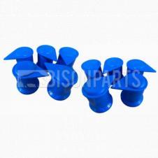 33MM LONG REACH DUSTITE WHEEL NUT COVER BLUE (PKT 10)