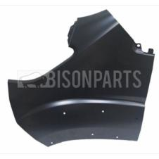 PRIMED FRONT WING PANEL WITH MOUNTING HOLES PASSENGER SIDE LH
