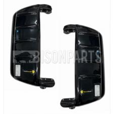 BLACK SUPER STRONG MIRROR GUARD SET RH & LH (PAIR)