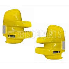 LONG ARM YELLOW SUPER STRONG MIRROR GUARD SET RH & LH (PAIR)