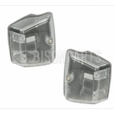 CLEAR STEPWELL SIDE REPEATER LAMPS RH & LH (PAIR)