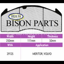 Brake Pad Set Regulation 90 (ECE R90) WVA 29125