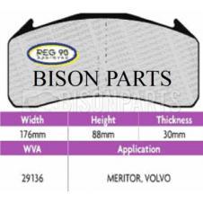Brake Pad Set Regulation 90 (ECE R90) WVA 29136