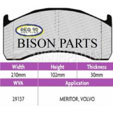 Brake Pad Set Regulation 90 (ECE R90) WVA 29137