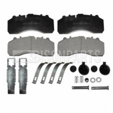 DAF, IVECO, MAN, MERCEDES & SCANIA FRONT OR REAR BRAKE PAD SET & FITTING KIT