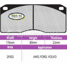 Brake Pad Set Regulation 90 (ECE R90) WVA 29302