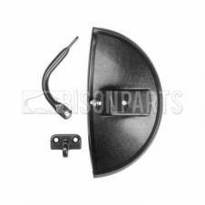 Universal Shatterproof Blind Spot 1/2 moor shape mirror 300 x 160mm
