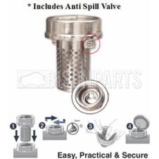 Fuel Cap Anti-Siphon Device 80mm Includes Anti Splash Valve