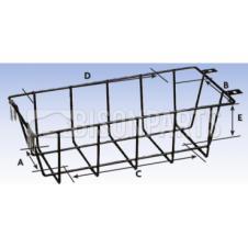 Protective Wire Cage A100 x B127 x C275 x D305 x E110