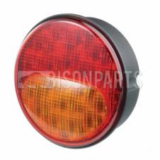 Rubbolite LED Rear Combination Lamp / Indicator / Stop / Tail - Ø122mm x 48mm