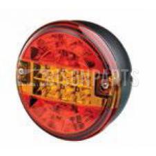 Rubbolite LED Rear Combination Lamp / Stop / Tail / Reflex - Ø122mm x 48mm