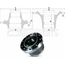 RENAULT PREMIUM, MAGNUM Hub c/w Bearings Front Axle (For Disc Brake)