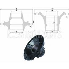 RENAULT PREMIUM Hub c/w Bearings Lift Axle (For Disc Brake)