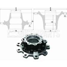 SCANIA 4, 5, 6 Series P & R Cab Hub c/w Bearings Rear Axle - Spline Type (For Disc Brake)