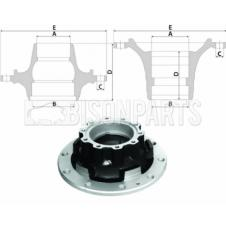 SCANIA 4, 5, 6 Series P & R Cab Hub Bare Rear Axle (For Drum Brake)