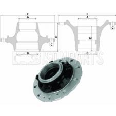 VOLVO Hub c/w Bearings Rear And Lift Hub - 25mm Bolt Holes (For Disc Brake)