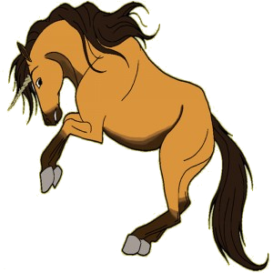 Unicornio de montar Pura sangre Bayo cereza