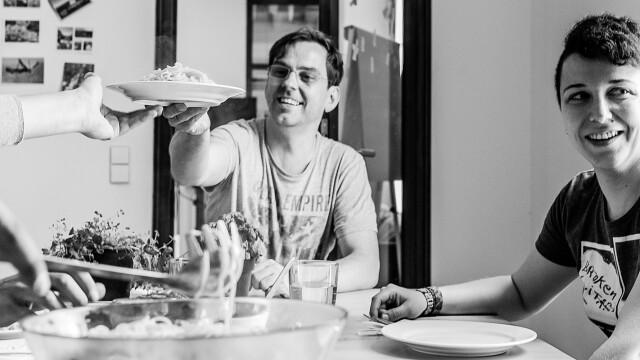 Pasta-Mittwoch, gemeinsames Mittagessen