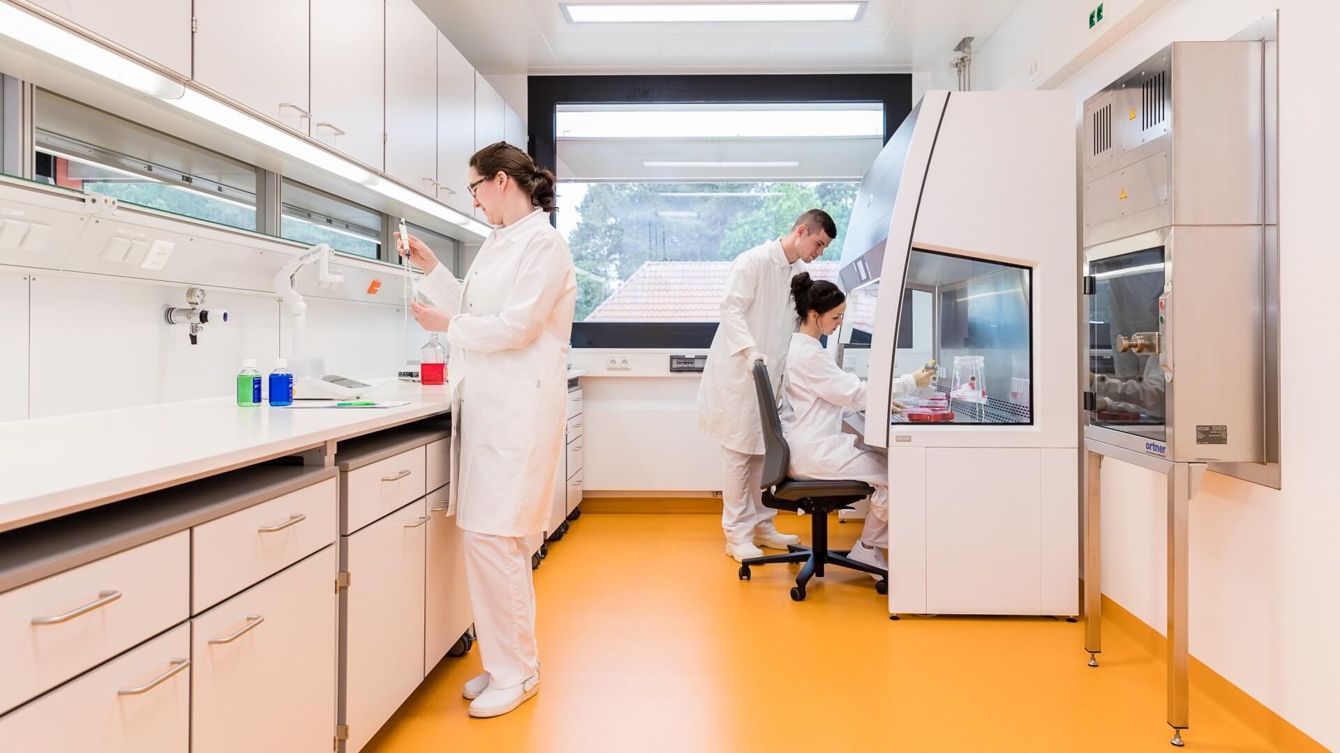 Virologisches Labor im Forschungsgebäude
