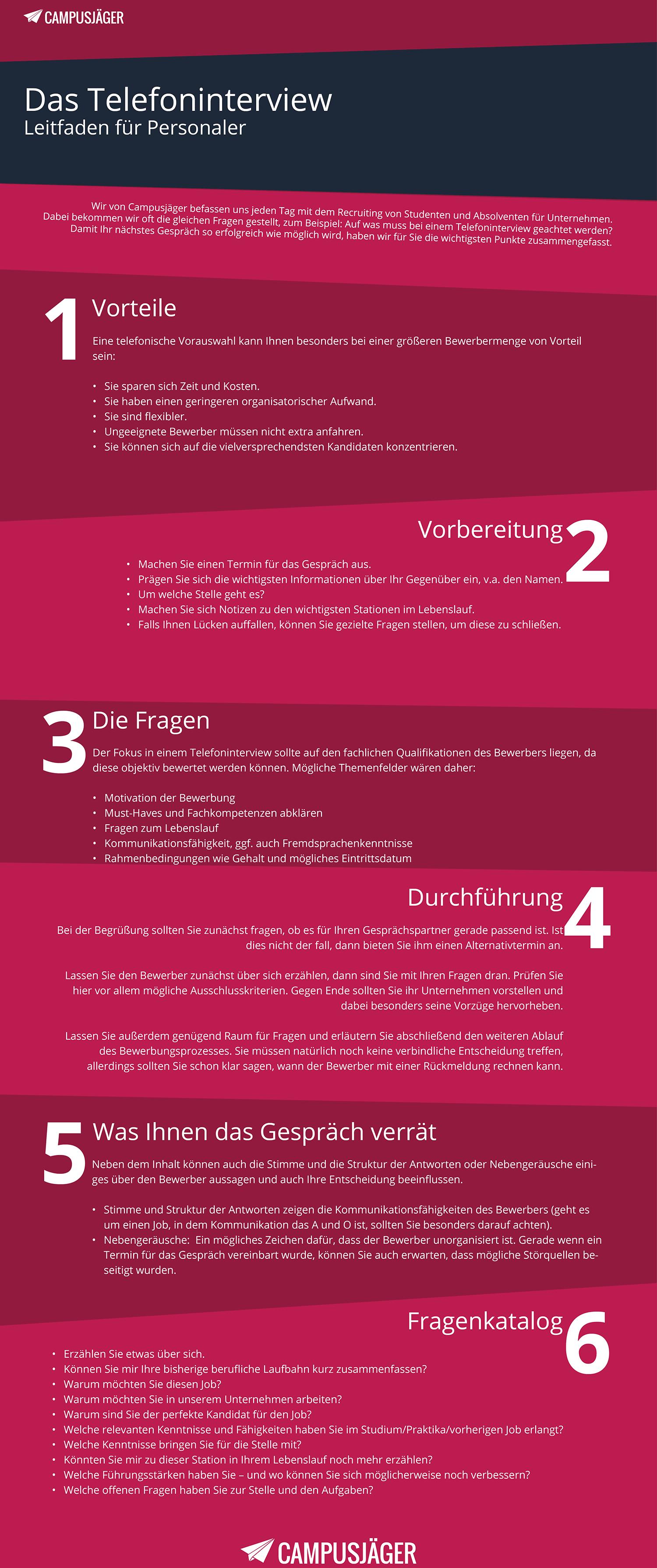 Infografik Telefoninterview