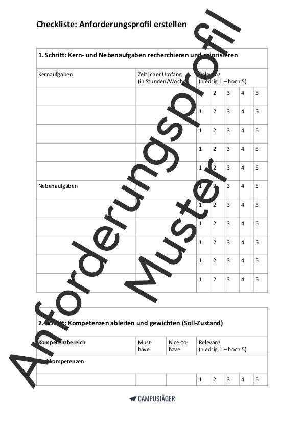 Arbeitsvertrag Muster