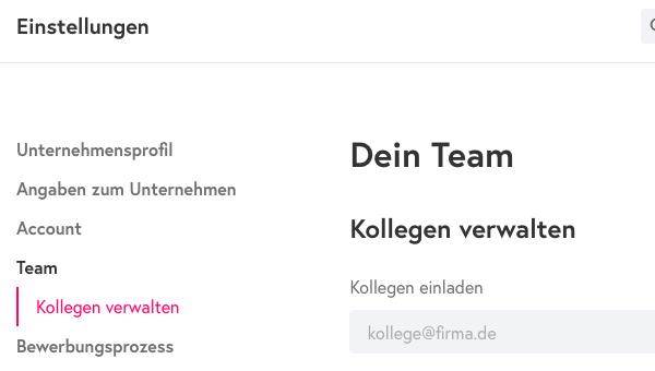 Screenshot: Kollegen verwalten