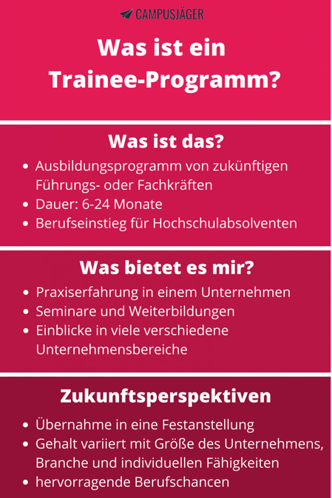 Infografik Definition Trainee Programm