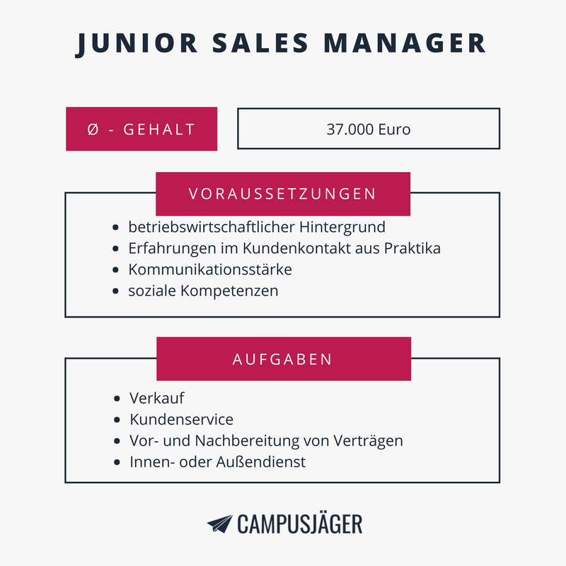 Infografik Junior Sales Manager