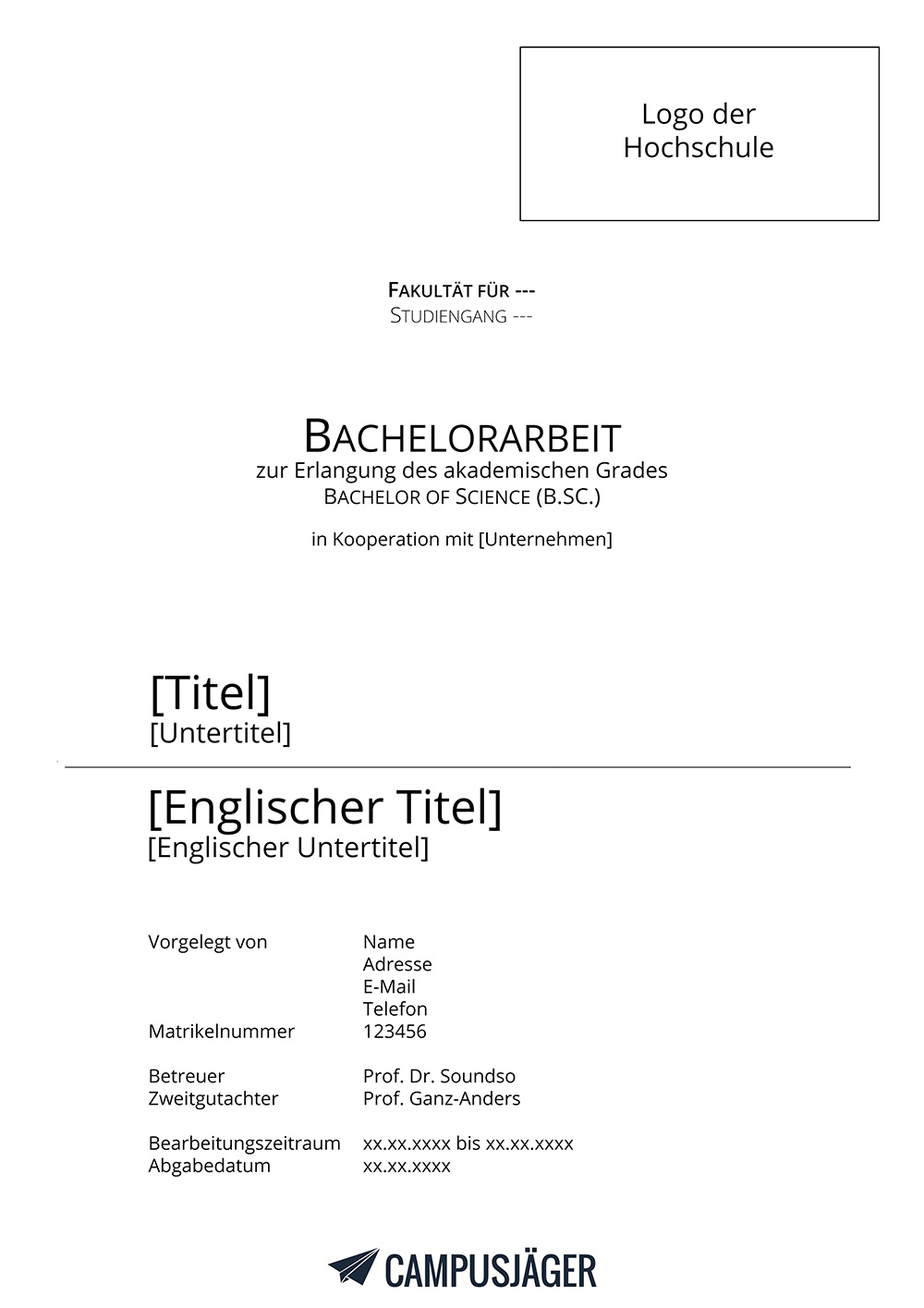 bachelor thesis zu spät abgegeben