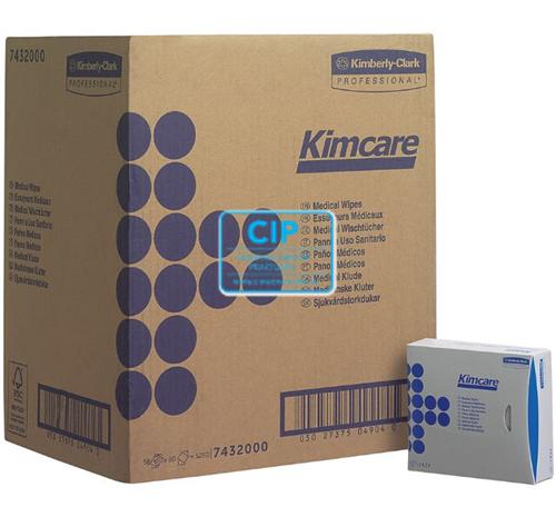 KIMBERLY CLARK MEDICAL WIPES KIMCARE 18,6x10,8cm NR.7432 (66x80st)