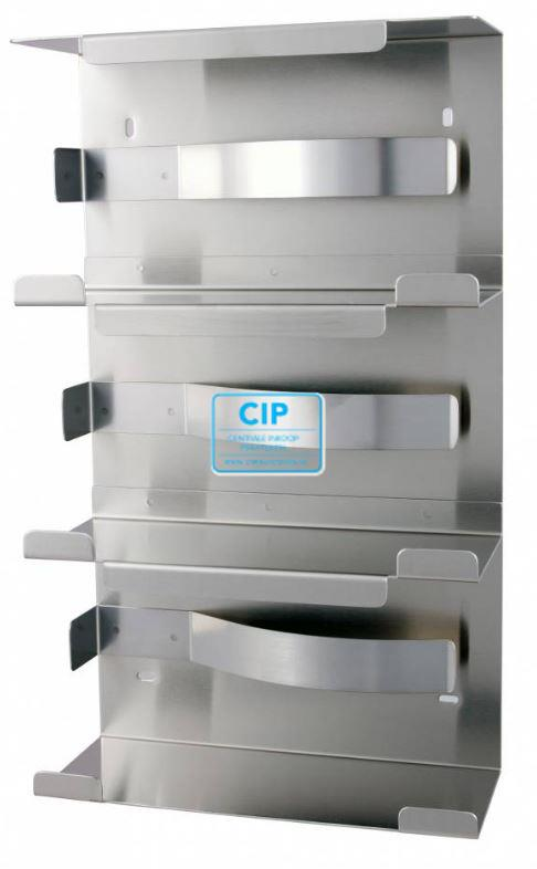 MEDIQO LINE RVS HANDSCHOENDISPENSER TRIO (403x240x99mm)